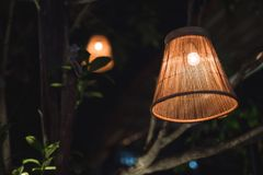 The country lamp. In the night Stock Images