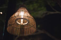 The country lamp. A lamp that working on the outdoor restaurant Stock Images