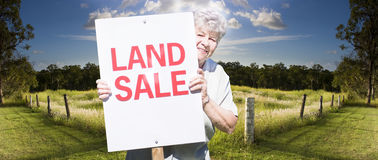 Country land sale Royalty Free Stock Photos