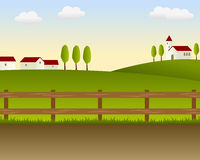 Country Landscape [1]. A green country landscape background, useful also for Thanksgiving Day. Eps file available Royalty Free Stock Images