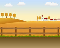 Country Landscape [2]. An autumnal country landscape background, useful also for Thanksgiving Day. Eps file available Royalty Free Stock Images