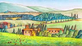 Country landscape royalty free illustration