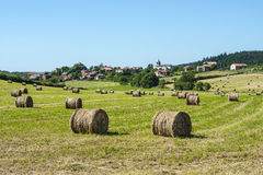 Country landscape in Aveyron (France) Royalty Free Stock Photo