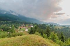 Country landscape in Borsa, Maramures, Romania royalty free stock photo