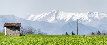 Country landscape in Brianza Stock Image