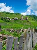 Country landscape in Davberi. Samegrelo-Zemo Svaneti, Georgia Stock Photography