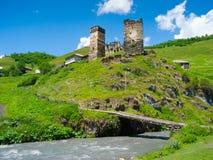 Country landscape in Davberi. Samegrelo-Zemo Svaneti, Georgia Royalty Free Stock Photos