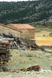 Country landscape in Gudar mountains Teruel Spain Royalty Free Stock Photography