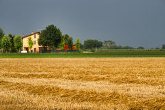 Country landscape near Fiorenzuola Piacenza, Italy Stock Images