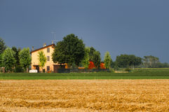 Country landscape near Fiorenzuola Piacenza, Italy Royalty Free Stock Images