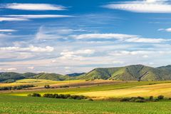 Country landscape in northern Slovakia. Country landscape in northern Slovakia, Rajec Valley area royalty free stock photos