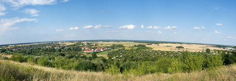 Country landscape. Panorama. Stock Photo
