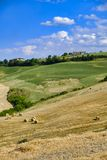Landscape in Romagna at summer: fields Royalty Free Stock Images