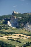 Landscape in Romagna at summer:, view of San Leo Royalty Free Stock Images