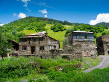 Country landscape in Svaneti. Georgia Stock Images