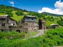 Country landscape in Svaneti. Georgia Royalty Free Stock Image