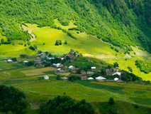 Country landscape in. Svaneti, Georgia Stock Photography