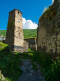 Country landscape in Svaneti Royalty Free Stock Photo