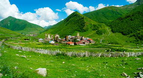 Country landscape in Svaneti Royalty Free Stock Photography