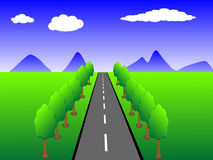 Country landscape (vector) Royalty Free Stock Image