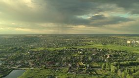 Country landscape weather rural sun rainy clouds stock footage