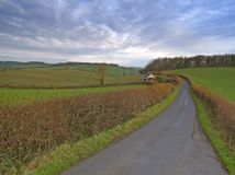 A Country Lane. An English Country Lane stock photography