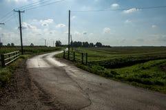 Country lane and bridge Stock Image