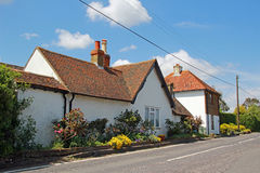 Country lane cottages Royalty Free Stock Images
