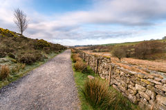Country Lane in Dartmoor. A country lane on Dartmoor National Park in Devon royalty free stock images