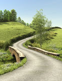 Country lane in summer time Stock Photo