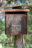 Country Letterbox on the wall in Italy Stock Photos