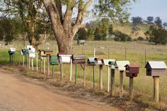 Country letterboxes Stock Images