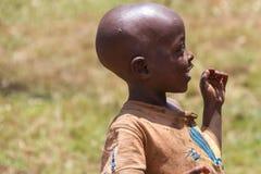 Country life in burundi. Child africa Stock Photo