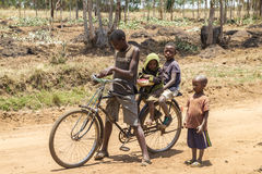 Country life in burundi Stock Photo