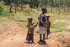 Country life in burundi. Children africa Stock Photography