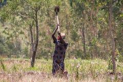 Country life in burundi. Woman africa Royalty Free Stock Photos
