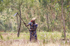 Country life in burundi. Woman africa Stock Images