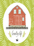 Country life design card Royalty Free Stock Photo