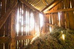 Country life. Hay barn. Ukraine. royalty free stock photos