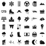 Country life icons set, simple style Royalty Free Stock Photo