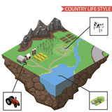 Country life infographics vector Stock Photo