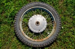 Country life. Old wheel. Ukraine. royalty free stock images