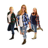Country Line Dancing Girls Royalty Free Stock Photos