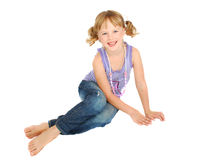 Country little girl. Royalty Free Stock Photography