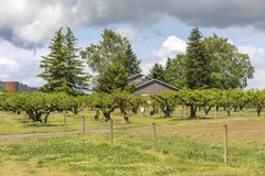 Residential home and orchards Sauvie Island OR. Country living residential home and orchards Sauvie Island OR Royalty Free Stock Photo