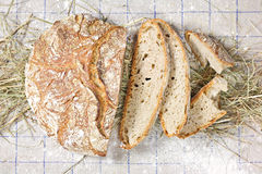 Country Loaf Sliced Stock Photos