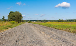 Country macadam road Royalty Free Stock Images