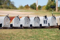Country Mailboxes Royalty Free Stock Image