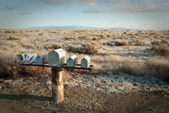 Country Mailboxes. Some mailboxes in the country outside of Boise, Idaho Stock Photo