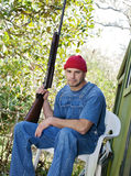 Country Man with a Shotgun Royalty Free Stock Photography